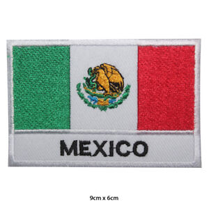 Mexico-National-Flag-Embroidered-Patch-Iron-on-Sew-On-Badge-For-Clothes-etc
