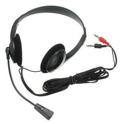 Lightweight Headset Headphones with Microphone for Gaming PC Laptop Skype