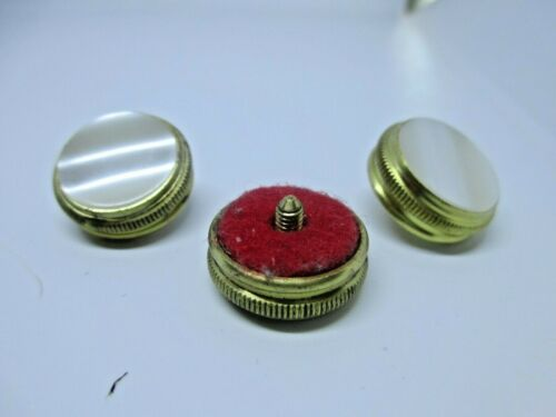 Set of 3. New Brass Sousaphone//Tuba//Sousa Finger Buttons with Felt for Conn