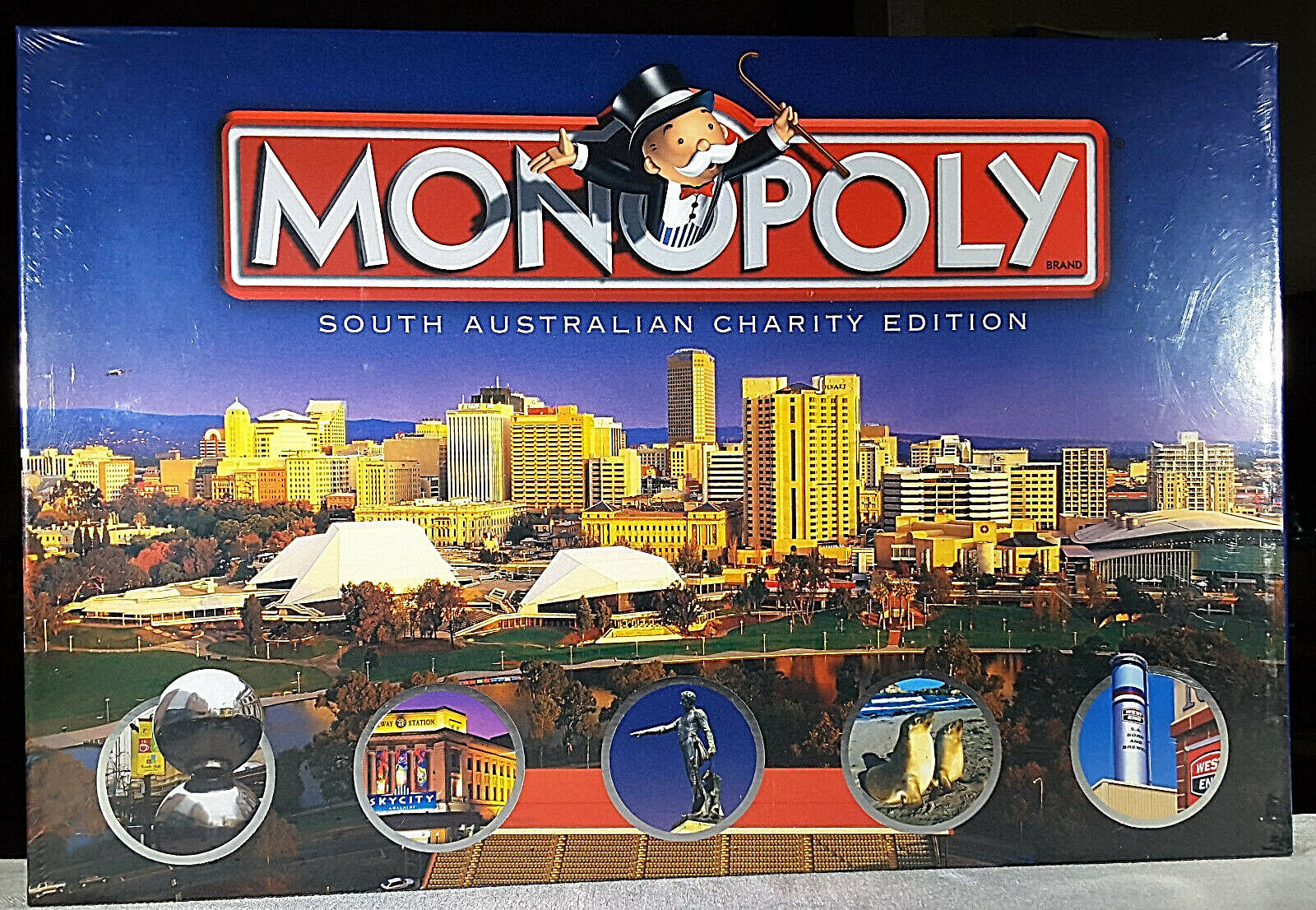 Rare Monopoly South Australian Charity Edition NIB - Factory-Sealed rossoUCED