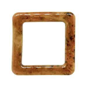 Brun écaille Square D Ring Slider 20 Mm 25 Mm-afficher Le Titre D'origine