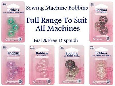 Class 15K Plastic Bobbin 2 Pack Hemline Sewing Machine Bobbins H120.01 Universal 6 Bobbins