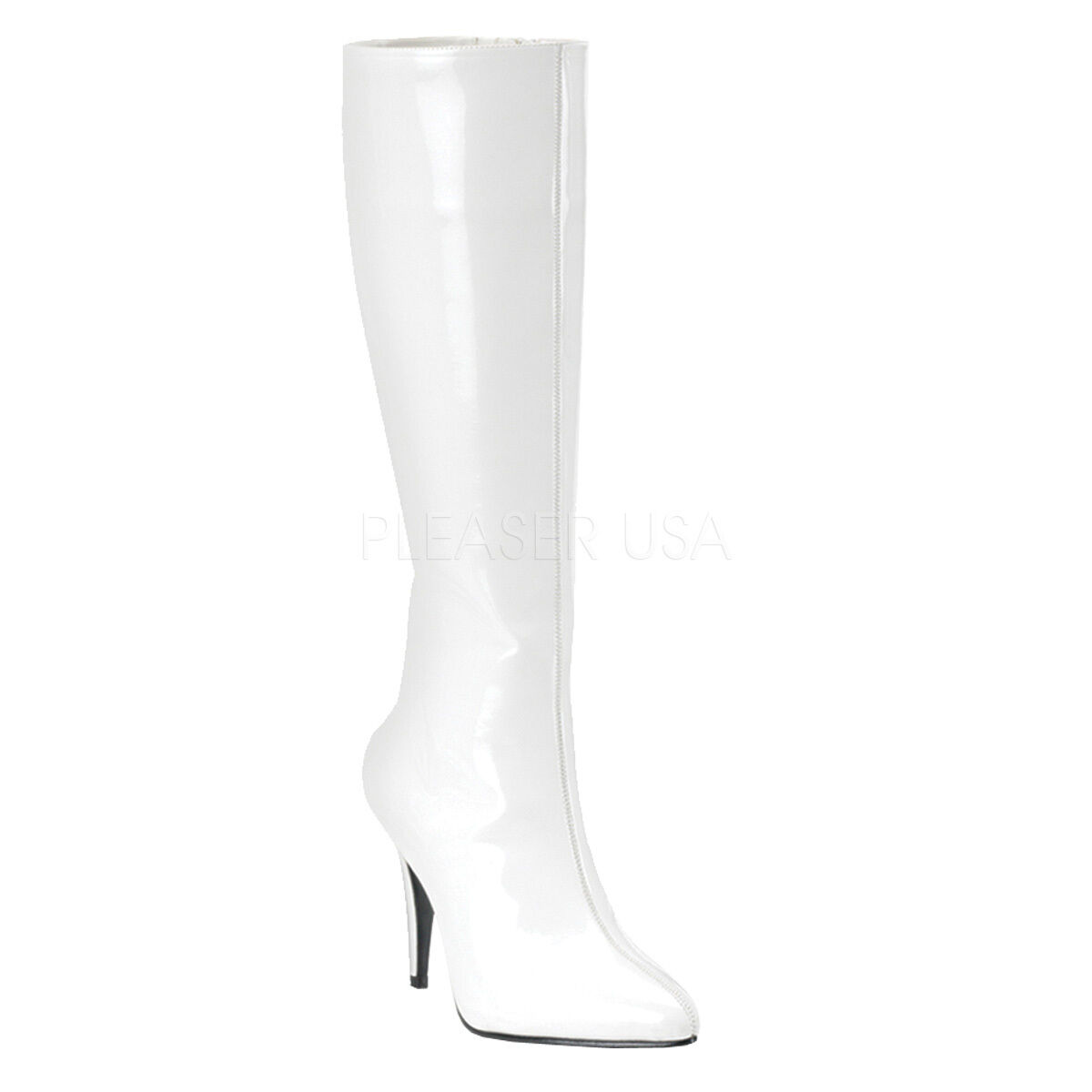 Sexy Pointed Toe 3 3 4  Heel blanc Knee High Costume bottes LUST2000 W