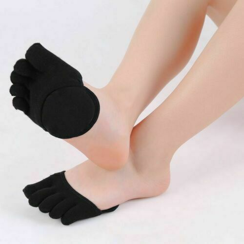 Women Invisible Sock Sponge Silicone Anti-slip Lining Open Toe Heelless Liner V2