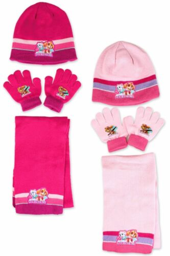 GLOVE /& SCARF SET GOOD QUALITY BOY/'S /& GIRL/'S CHARACTER WINTER  HAT