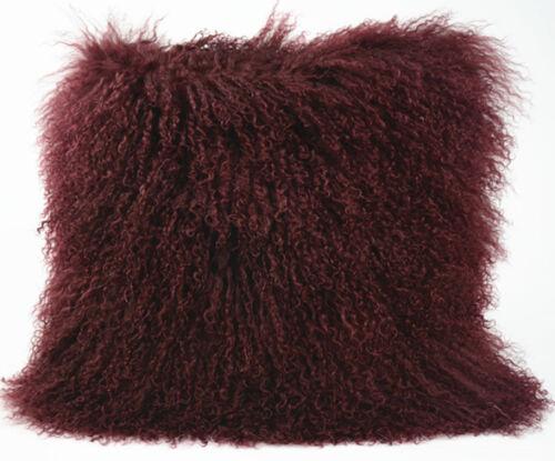 50cm*50cm new genuine mongol peau de mouton laine d/'agneau fourrure housse de coussin