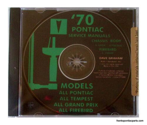 1970 Pontiac Shop Manual CD Catalina Bonneville Grand Prix GTO Firebird