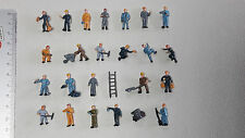25 Figuren zu Spur H0 Arbeiter Baustelle Handwerker Leiter 1:87 NEU Konvolut Set