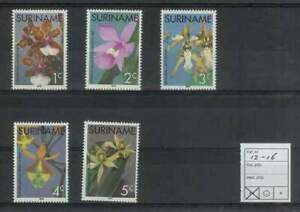 Suriname-rep-postfris-1976-MNH-12-16-Orchideeen-Orchids