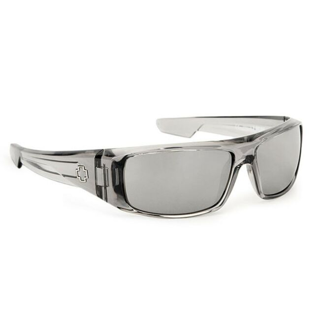 24800e85b2 Spy Optic Mens Logan 670939204352 Wrap Sunglasses Clear Smoke Happy Gray  Green