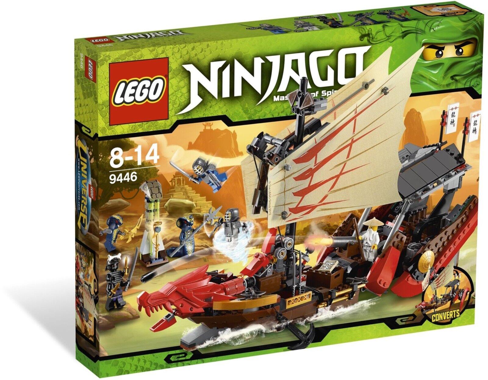 Lego Ninjago 9446 Destiny's Bounty Nuevo Sellado Wu Kendo 2012 subida serpientes Skales