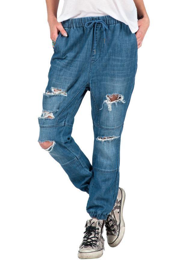 2016 NWT WOMENS VOLCOM LAZY BONE JOGGER PANT  60 S vintage bluee elastic waist