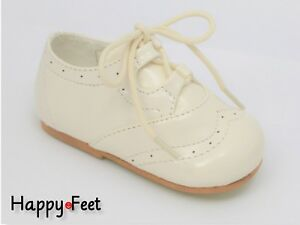 a392e81fd32f2 Baby Boy s Size 4 Sevva Spanish Style Patent Lace Up Brogue Walking ...