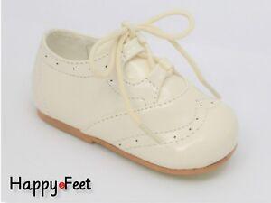 a392e81fd32f2 Baby Boy s Size 4 Sevva Spanish Style Patent Lace Up Brogue Walking ...