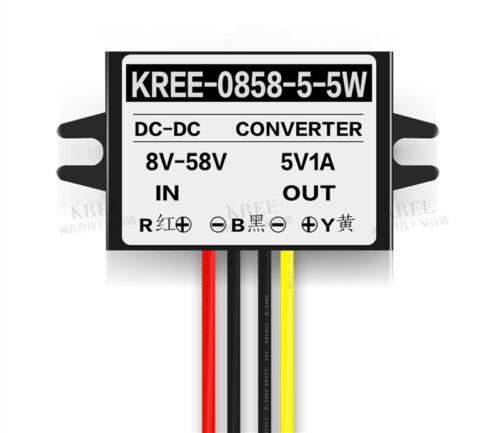 to 5V 1A DC-DC Converter Step Down Buck Module 8V-58V DC 12V//24V//36V//48V