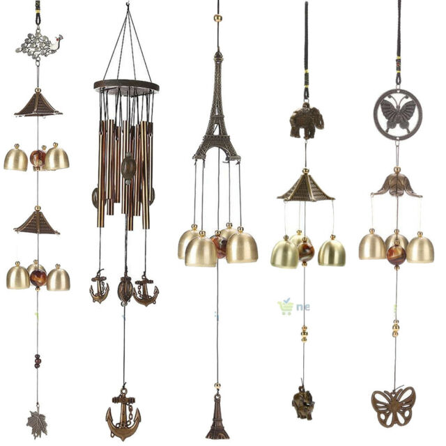 Hanging Wind Chimes Copper Tubes Yard Garden Outdoor Living Home Decor Windbell