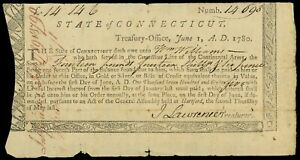 Hartford-Connecticut-Treasury-Office-14-14s-6d-June-1-1780-Wm-Williams-CT-18