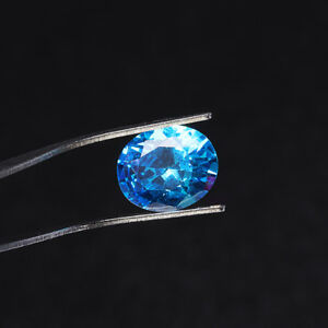 10x12mm-7-56ct-Sea-Blue-Sapphire-Oval-Faceted-Cut-Shape-AAAAA-VVS-Loose-Gemstone