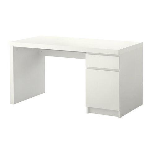Charmant Ikea Malm Office Desk White 602.141.59