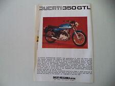 advertising Pubblicità 1975 MOTO DUCATI 350 GTL