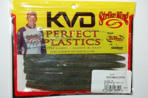 "strike king perfect plastics scent 5/"" ocho watermelon red flake bass senko"
