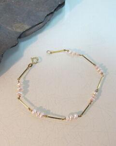 Armband-585-Gelbgold-mit-Zuchtperlen-sehr-schickes-Armband-T20