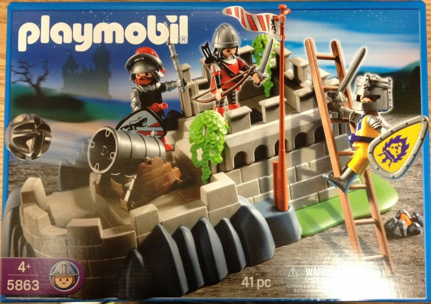 Playmobil 5863 Knights Castle Lion Cannon Fort