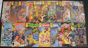 ELFQUEST-17-Book-Comic-LOT-Shards-Blood-Hidden-Years-1985-1996-Marvel-Warp