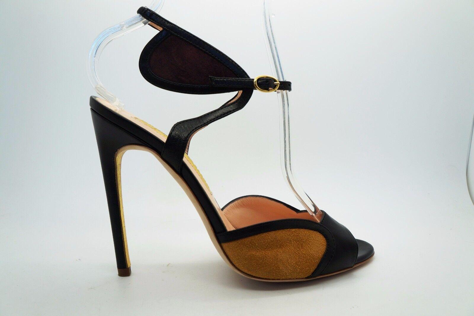 Rupert Sanderson Negro vino en en en ante Avril Cuero Tacones Zapatos 37 US 7  suministro de productos de calidad
