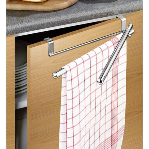 Steckhalter Handtuchstange für Küche und Bad 2er Tür Handtuchhalter TwinSwing