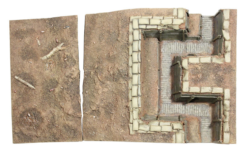 BRITAINS 51015 - WWI British Trench Section No.2, Infantry Trench