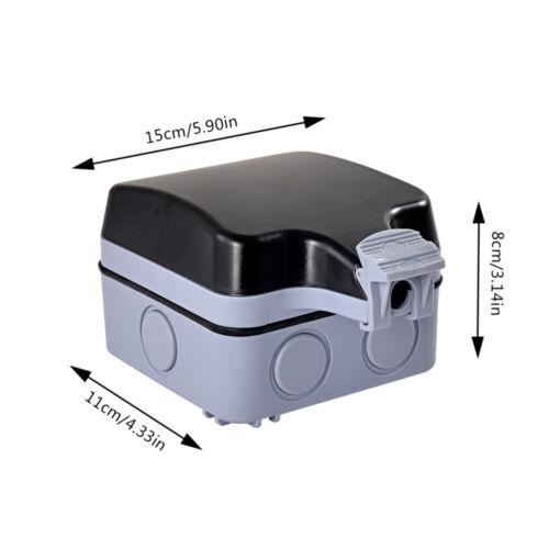 Wandsteckdose Für Den Außenbereich Wasserdicht/&staubdicht Schaltsteckdose 13A DE