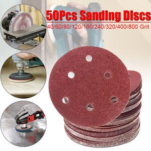 50Pcs-150mm-6-039-039-Sanding-Discs-Sheets-Pads-40-800-Mixed-Grit-Orbital-Sandpaper