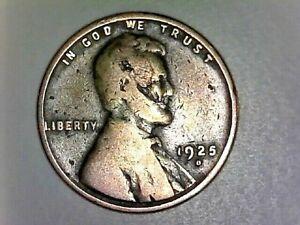 "UNITED STATES-1925 ""D""  Wheatback Liberty Penny Laminated Obverse Head Error"
