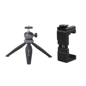 Mini Small Tabletop Handheld Tripod Compact Digital Camera DSLR+Phone Clip