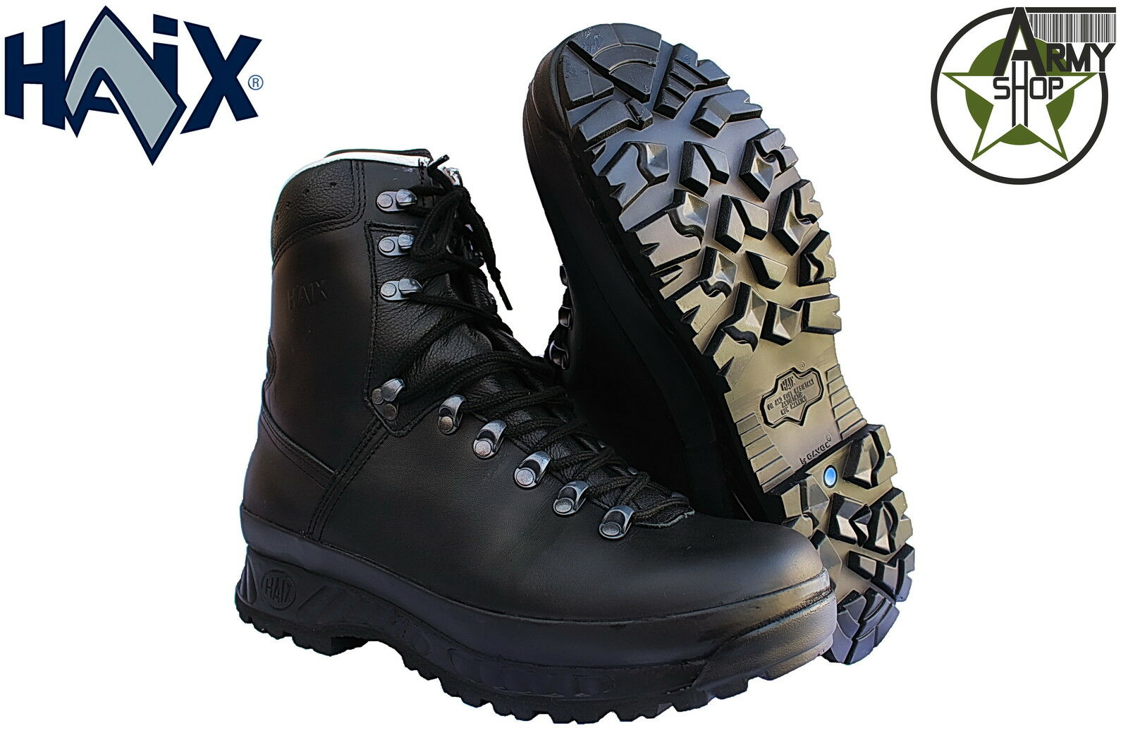 Haix Zapato de montaña botas combate BW ORIGINAL Negras Nueva