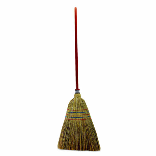 135 cm traditionnel Corn Broom Poignée Longue Jardin Patio stable Sweep Nettoyage M4C