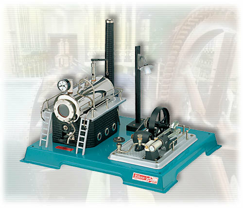 Wilesco D 18 Dampfmaschine mit Dynamo und Laterne Neu