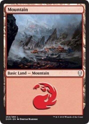 1x Mountain - Foil NM-Mint English Dominaria MTG Magic 264