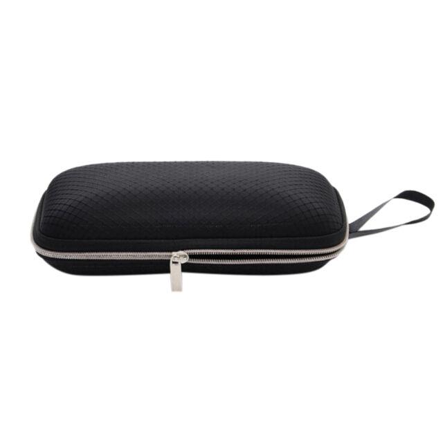 Hard Portable Rectangle Grid Zipper Glasses Case Eyewear Box for Sunglasses NT