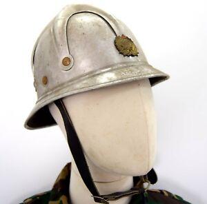 Serbian-Yugoslavian-Fire-Service-Helmet-Aluminium-Fire-Fighter-Military-Helmet