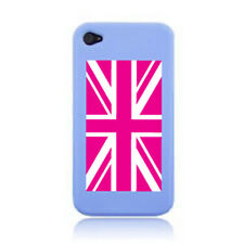 UNION JACK/GREAT BRITIAN FLAG iPHONE CASE COVER STICKER FITS ON 3G, 4S & 5 PINK