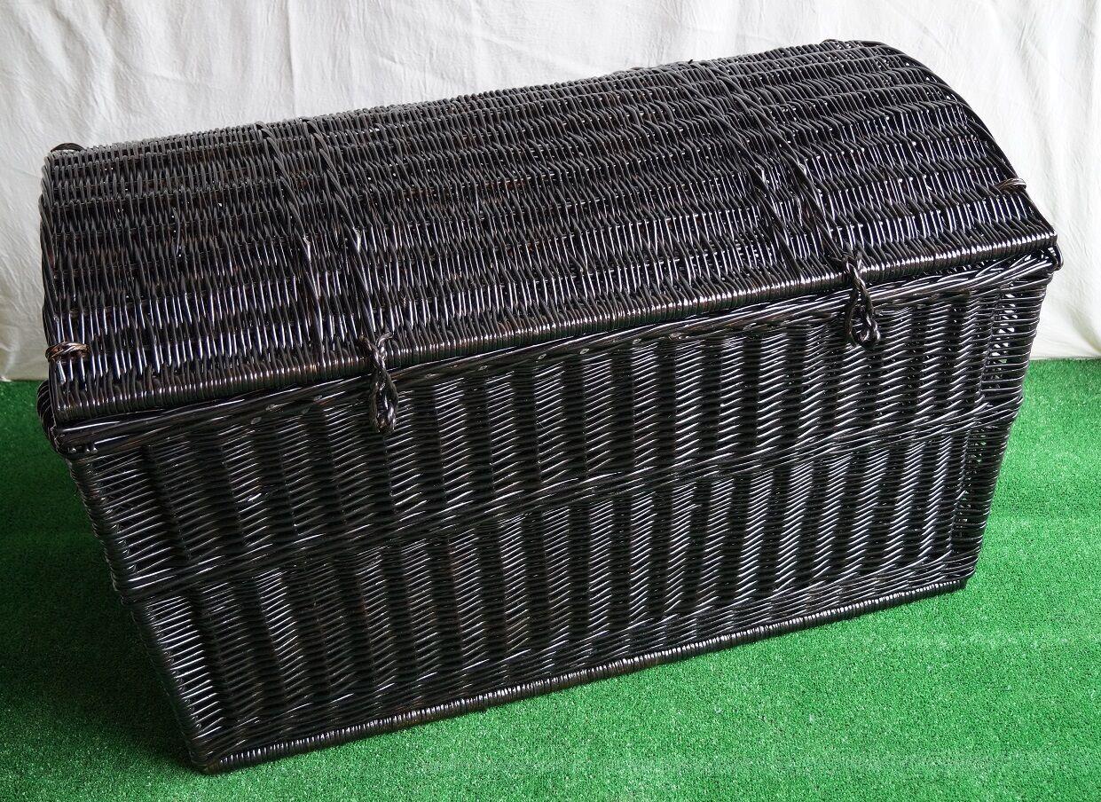 VIMINI petto Storage Trunk soluzione Willow GIOCATTOLO APERTO BIANCHERIA grandi PIRATA NERO