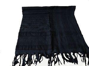SAS-Military-Army-Original-Olive-Arab-Desert-Shemagh-100-Cotton-Scarf-Black
