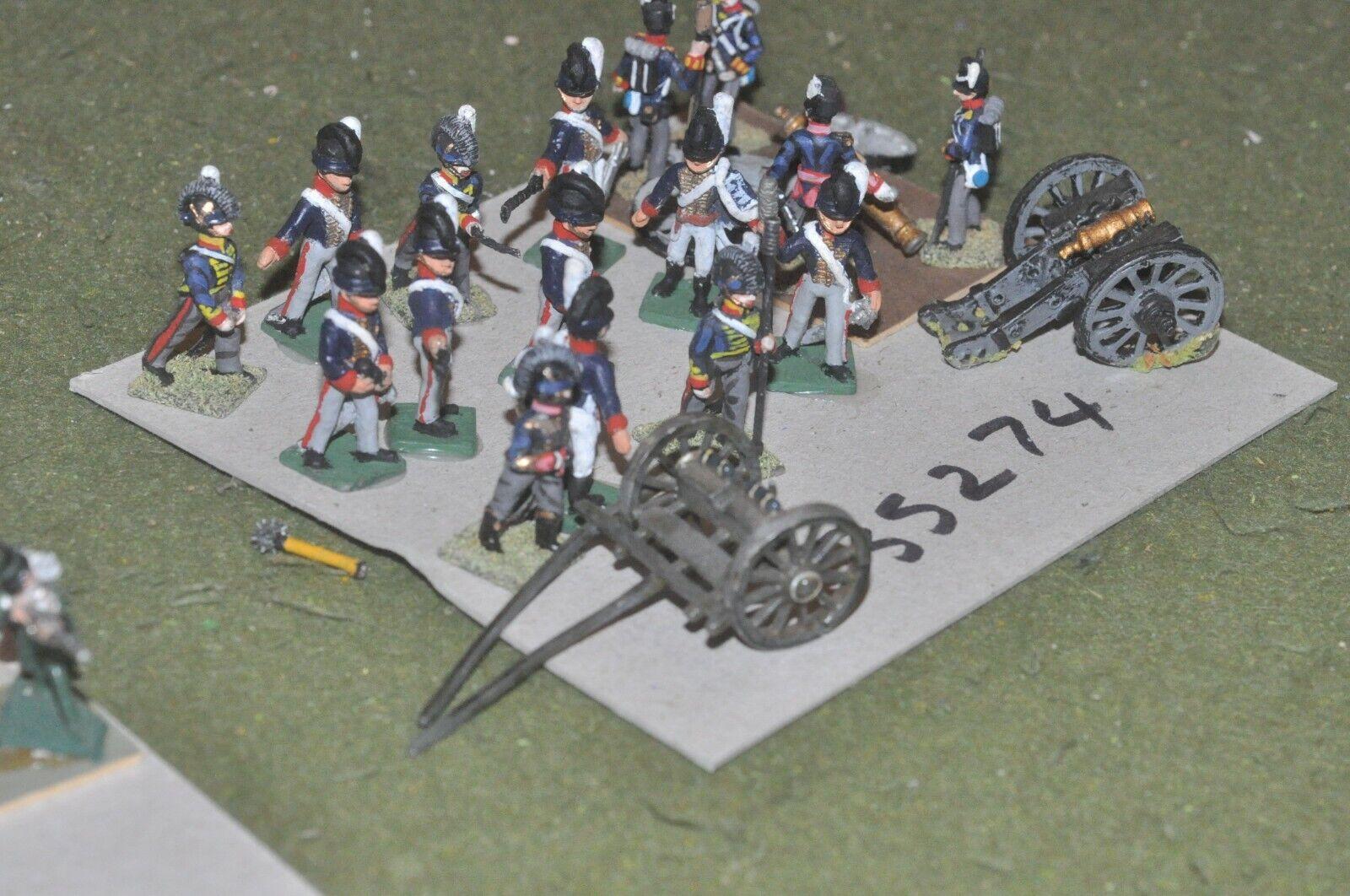 25mm napoleonic   british - 2 guns & crews - art (35274)
