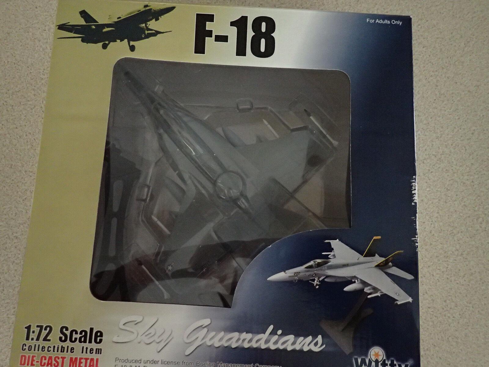 Witty Wings Sky Guardians 1 72 WTW-72-007-002 F-18 VFA-137 Kestrels Unopened