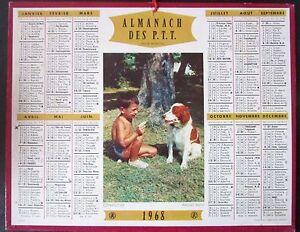 Calendrier Pour Avoir Un Garcon.Details Sur Calendrier Almanach Des Ptt De 1968 Petit Garcon Avec Chien