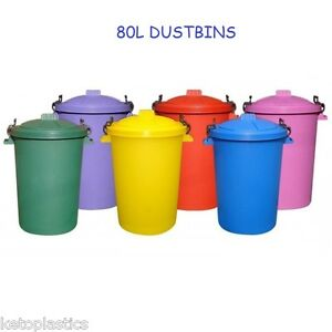 80-85-LITRE-GARDEN-HOUSE-DUSTBIN-BIN-PICK-A-COLOUR