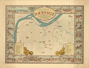 1934-Historical-Pictorial-Map-Louisville-Kentucky-Wall-Poster-Print-Genealogy