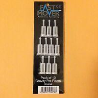 Hvlp Gravity Feed Spray Gun Cup Paint Strainers Filters Iwata Devilbiss Sata